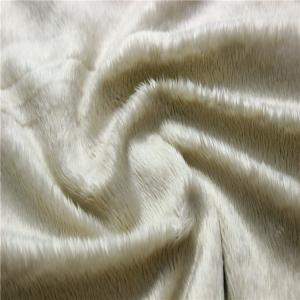 China Super Soft Velboa Soft Toy Making Fabric Short Pile Plush Fabric on sale