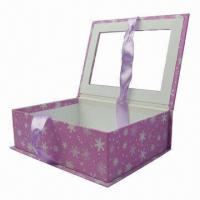 Best Book-shaped Gift Boxes with Bowknot on One Side and Window on Top wholesale