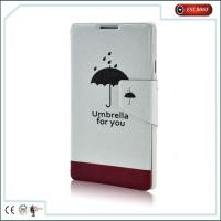 China Exquisite Illustration Leather Cell Phone Cases Flip Covers For Samsung Galaxy on sale