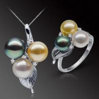 Best Akoya Pearl Jewelry Set with High Quality and Exquisite Handcraft, Jewelry Mountings are Accepted wholesale