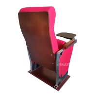 Best Foldable Audience Seating PU Molded Foam Anti Stained Auditorium Chairs With Writing Board wholesale