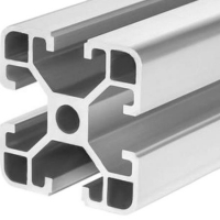 Best Mill Finish 6063 T5 40x40 Aluminum Assembly Line Extrusions wholesale