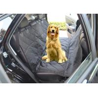 Best Black Quilted Removable Pet Car Seat Covers With Seat Belt Holes wholesale