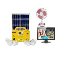 Best 17Ah battery solar energy panel Home Solar Generator DC Fan DC TV  LED Bulbs FM radio MP3 Player wholesale