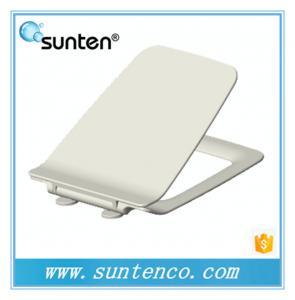 China Pure White Soft Close Ultra Slim Square Toilet Seat Manufacturer on sale