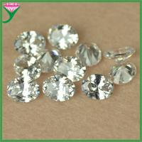 Best Factory Sale 7*9mm oval shape lab created white loose cubic zirconia gemstone wholesale