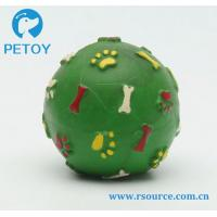 Best Bone and paw printing Latex squeaky dog ball toy wholesale