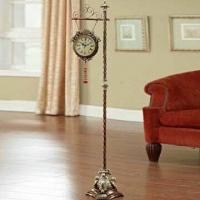 Best 58 Inches Decorative Floor Clock with Champagne Finish, Made of Metal and Resin wholesale
