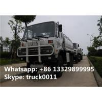 Best Dongfeng 190hp diesel 6*6 all wheels drive off road fuel truck for sale, oil tank truck, best price 10cbm oil tanker wholesale