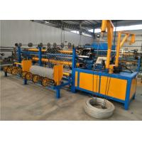 Best Double Wire Fencing Wire Making Machine , Black Wire Chain Link Weaving Machine  wholesale