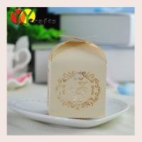 Best Luxury sweety mini light gold paper wedding decorative candy gift box with cheap price wholesale
