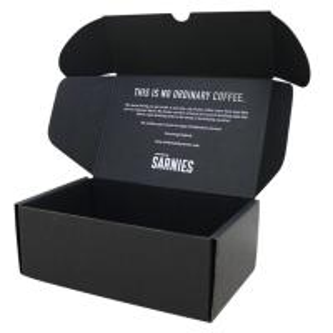 Postal Mailer Subscription Printed Shipping Boxes Custom Black Kraft Packaging