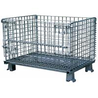 China Folding wire mesh storage cage warehouse container on sale