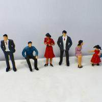 Best Plastic Scale Model Painted People Figures for HO , OO , G N , T Train layout P25-6 7CM wholesale