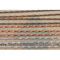 Buy cheap Twisted Stainless Steel , Finned Copper Tube With Higher Heat Transfer Coefficient product