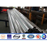 Welding Tapered 33M Galvanized Steel Street Lighting Pole With Powder Painting