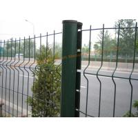 China Customized PVC Powder Coated Wire Mesh Fence For Highway / Railway Protection on sale