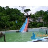 Best Commercial Outdoor Kids Play 7m Rainbow Fiberglass Water Slides for Racing wholesale