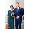 Buy cheap Harry Princess Megan Dark Green Two Piece Suit Elegant Summer Midi Length Skirt from wholesalers