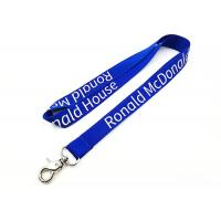 Best Custom 460mm Length Imprinted Nylon Lanyards Turquoise Color With Thumb Trigger wholesale