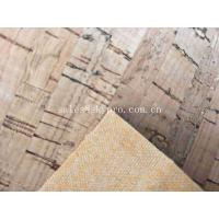 Cheap Heat Insulation Colorful Soft Natural Cork Leather Fabric , 0.6mm Thick for sale