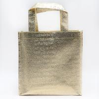 Best Good sale best price recyclable golden aluminium film shopping embossing non woven bag wholesale