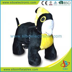 Best China Supply Funny Stuffed Animals Walking Animal Rides Purple Stuffed Animals wholesale