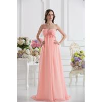 Best Cheap One Shoulder Sweetheart A-line Chiffon Long Evening Party Gown With Applique wholesale