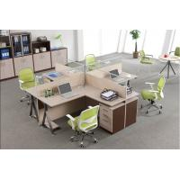 China Custom Office Furniture Partitions With Storage Cabinet , 4 Person Workstation Desk on sale