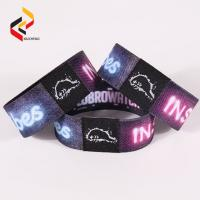 Best Music Festival Events NFC213 Woven Fabric RFID Stretch Wristband Bracelet wholesale