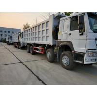 China HOWO 8x4 371hp Heavy Duty Dump Truck 12 Wheeler With ZF8098 Steering And HW19710 Transmission on sale