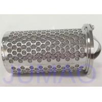 China 316 Stainless Steel Mesh Basket Filter Element For Industrial Liquid Filteration on sale