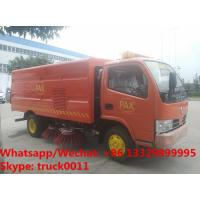 Best Wholesale good price Dongfeng brand 4x2 LHD/RHD 6 tyres 3m3 road street cleaning truck for sale, road sweeper vehicle wholesale