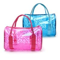 China Fashion Summer Clear Beach Bag Waterproof Transparent PVC Cosmetic Makeup Toiletry Storage Bag on sale