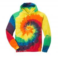 China Acid Wash Mens Oversized Pullover Hoodie Custom 100% Cotton Terry Tie Dye on sale