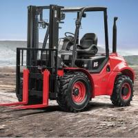 Best Masted Rough Terrain Forklift , Off Road 3 Ton Red Steel 4x4 Forklift wholesale