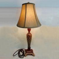 Best 36 x 36 x 77.5cm Decorative Table Lamp with Resin Base and Fabric Shade wholesale