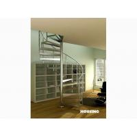 Best Solid wood tread Custom Spiral Staircases For Villas, stainless steel Baluster wholesale