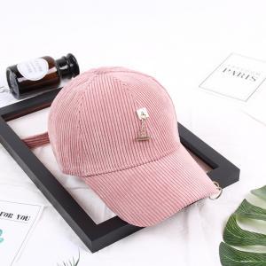 Best 2018 trendy fashionable girls corduroy cap with MOQ only need 3 pcs, Women baseball cap wholesale
