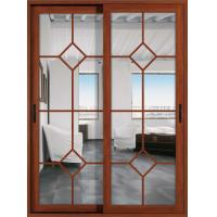 Best German hardware 1.6mm profile thickness aluminum sliding glass doors with fly screen wholesale