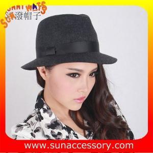 Best T8981177 Sun Accessory customized fashion  winner 100% wool felt  fedora hats, unisex hats and caps wholesaling wholesale