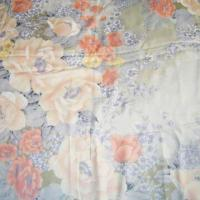 China Silk Fabric with Printing in Traditional Flower Design, Used for Quilt Covers on sale