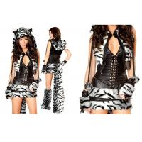 China White Tiger Adult Halloween Costume , Deluxe Fancy Dress Costumes For Dancing on sale