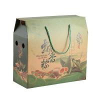 China Tall Small Cardboard Boxes Food Industry Lightweight Reusable With Handle Rope on sale