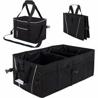 China Durable Collapsible  Car Trunk Organizer Bag For Cargo Groceries Storage on sale