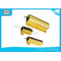 Best High Stability Wire Wound Gold Power Resistor 5W - 500W Cooling Plate Installation wholesale