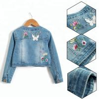 Best Embroidery Snap button/Lace with Long sleeve denim jacket wholesale