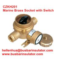 10A/16A marine brass socket with switch CZKH109 IP56 adopted standard DIN89263