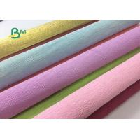 Cheap Colored Double Sided Crepe Paper Roll 52cm x 250cm For Decorations for sale