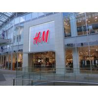 China Front-lit Brushed Stainless Steel 3D LED Letter Sign For H&M on sale
